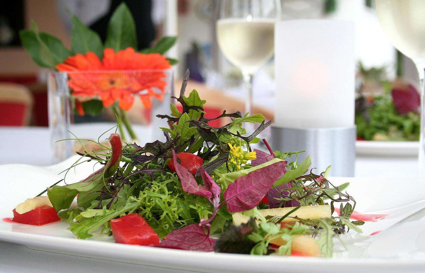 Salate, Sommergerichte, Restaurants, Hohenlohe
