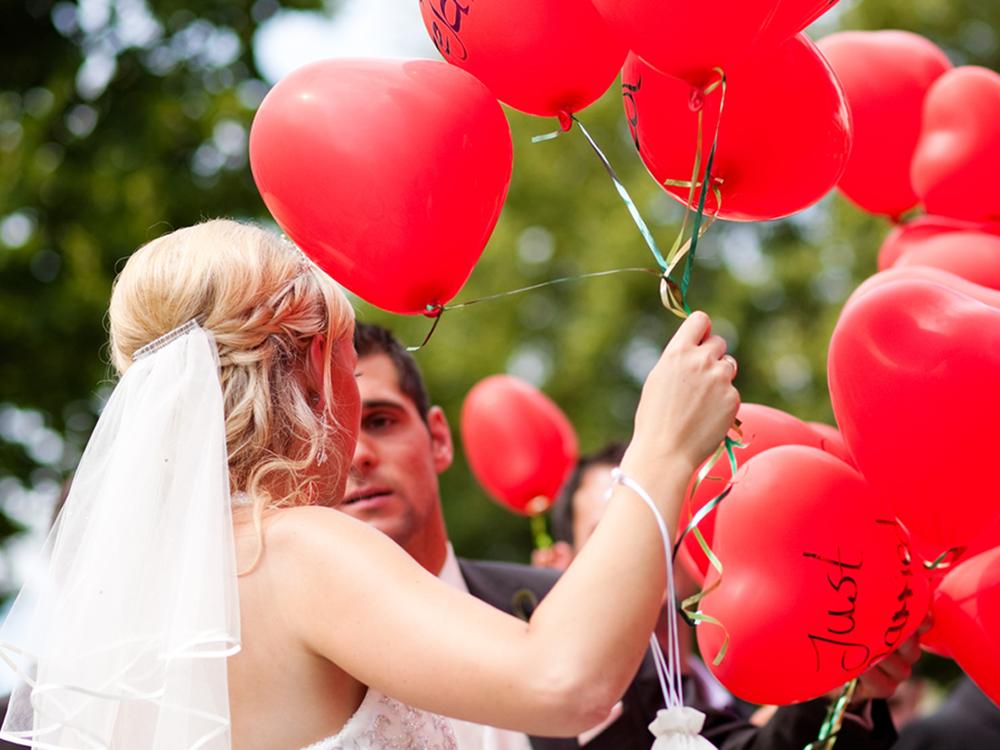 Ballongas Hochzeit