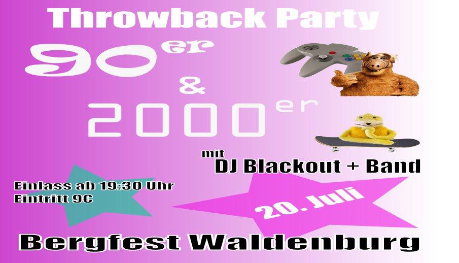 DJ BLACKOUT und die Throwback Band spielen Euch die fettesten Beats rund um die Jahrtausendwende